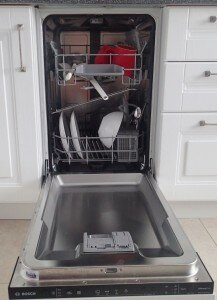 Посудомойка, вид внутри, вид изнутри